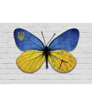 Фігурний настінний годинник з 3D ефектом Метелик F80, 30х45 см