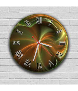 Круглий настінний годинник Абстракція 69087, 30х30 см