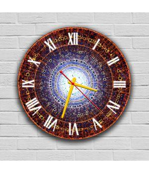 Круглий настінний годинник Абстракція 69088, 30х30 см