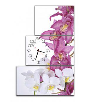 Модульные настенные часы Орхидеи, 60x90 см