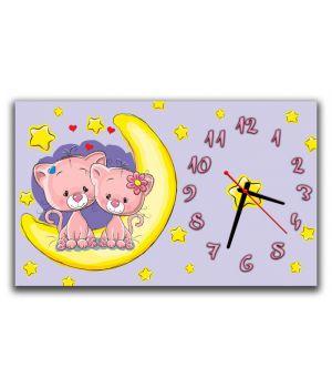 Настенные часы Котики 69029, 30х50 см