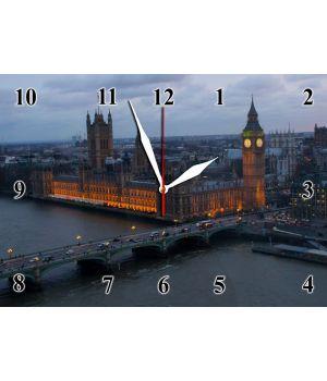 25х35 см, Стеклянные часы настенные, 77893