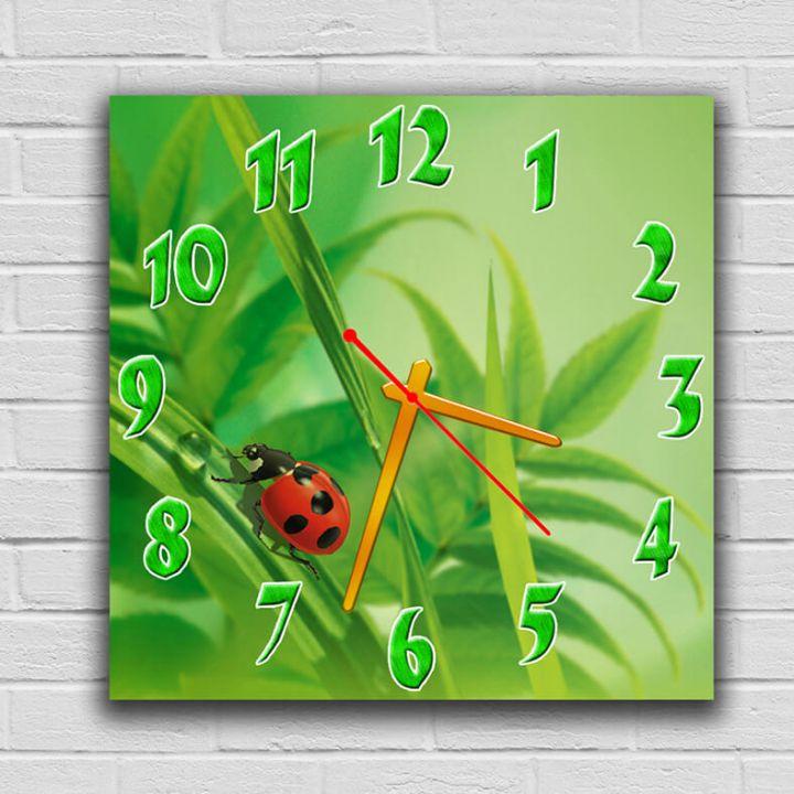 Часы квадратные настенные Лето, 30х30 см