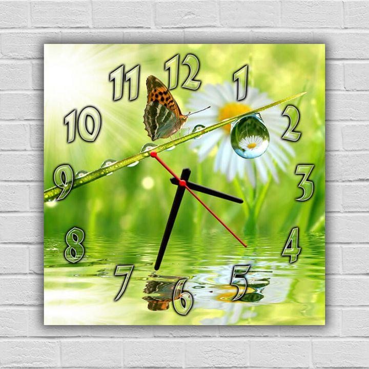 Настенные часы квадратные Яркая Бабочка, 30х30 см