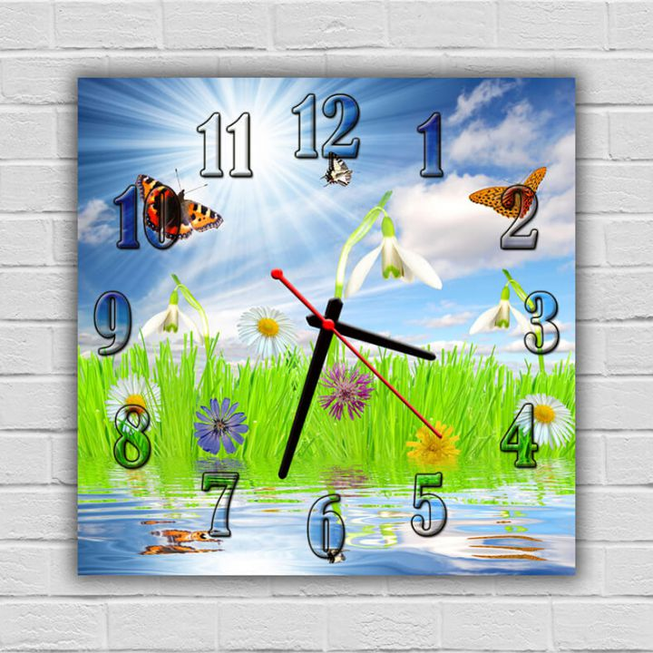 Часы квадратные настенные Летняя Услада, 30х30 см