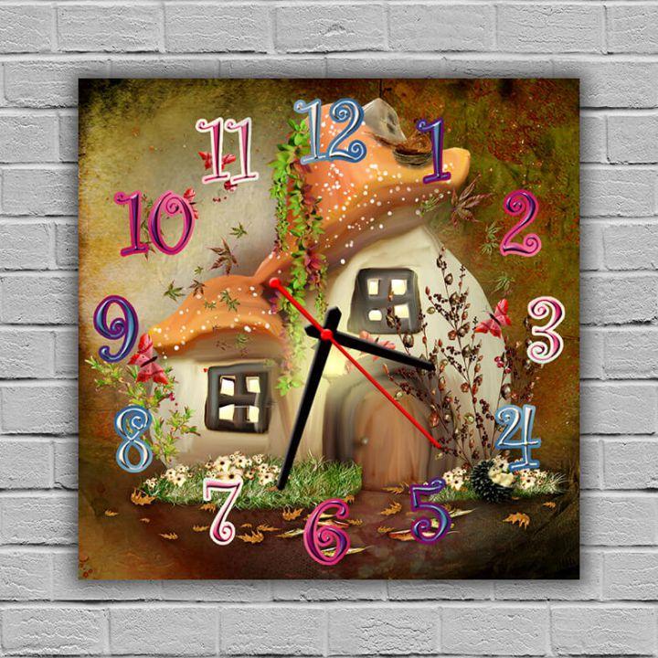 Часы детские настенные Сказочный Домик, 30х30 см
