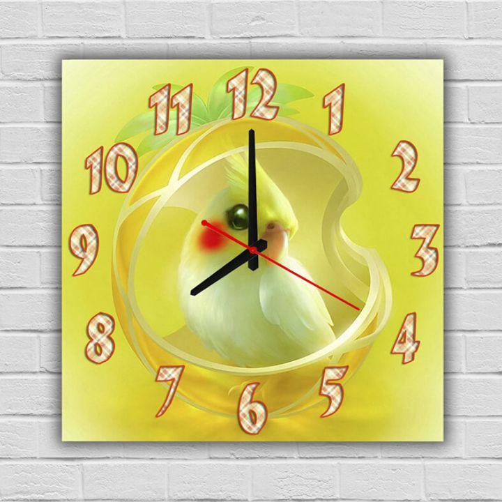 Детские часы настенные Попугайчик, 30х30 см