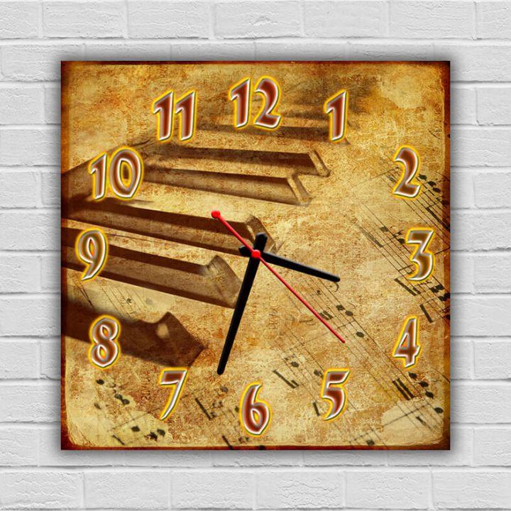 Настенные часы квадратные Ступеньки
