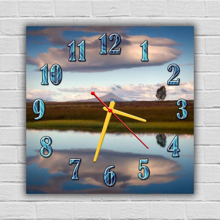 Часы квадратные настенные Пейзаж