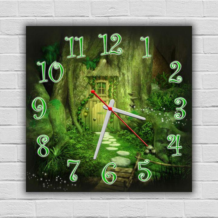 Часы квадратные настенные Магия