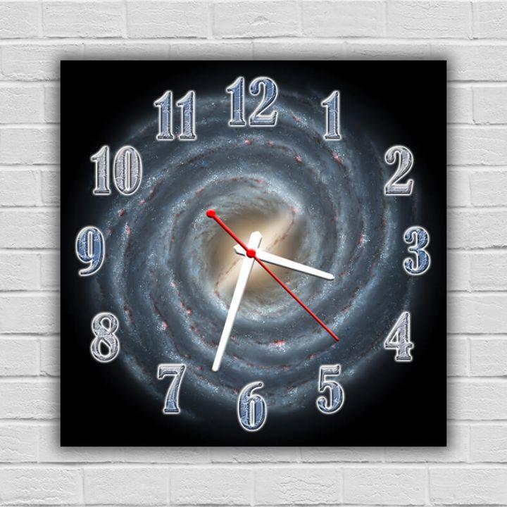 Часы квадратные настенные Галактика