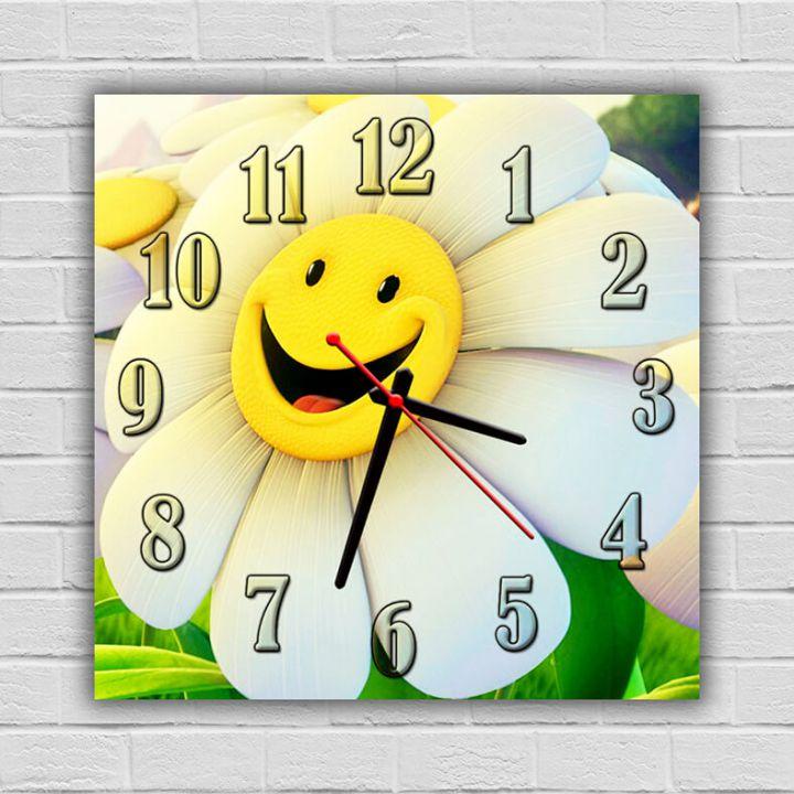 Часы детские настенные Веселая Ромашка, 30х30 см