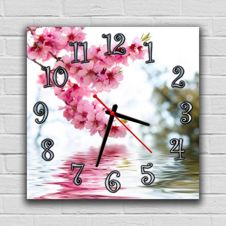 Часы квадратные настенные Весенние Краски