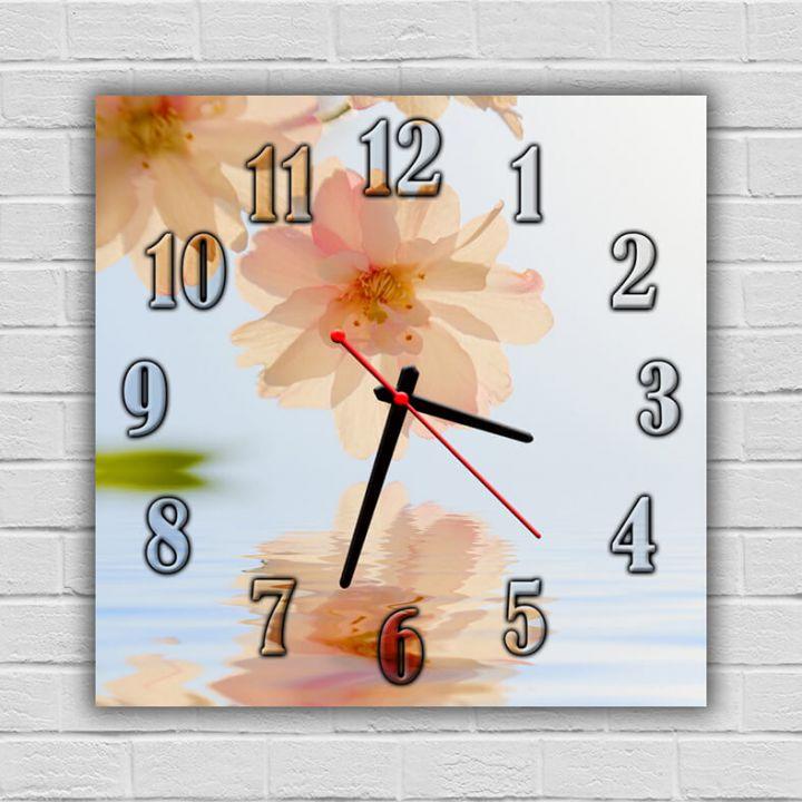 Часы квадратные настенные Озаряя Закат