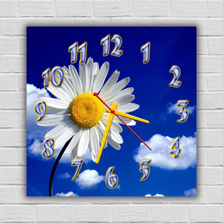 Часы квадратные настенные Очаровательная Ромашка