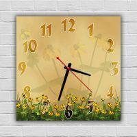 Настенные часы Цветы 1, 30х30 см