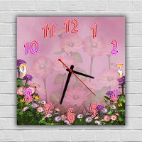 Настенные часы Цветы 3, 30х30 см