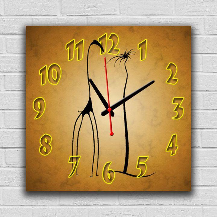 Часы квадратные настенные Жираф, 30х30 см