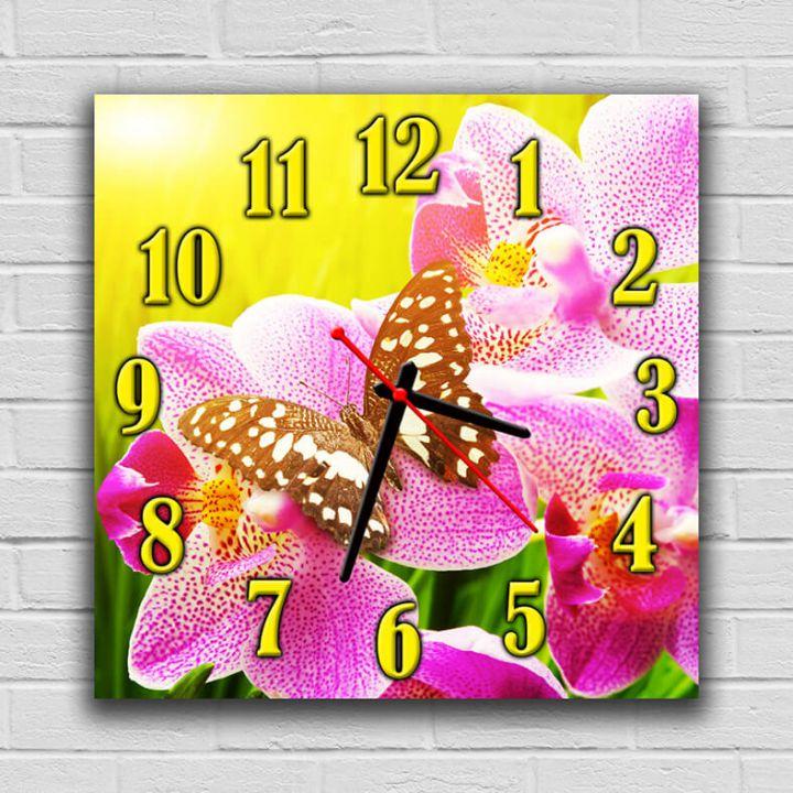 Часы квадратные настенные Дивная Бабочка, 30х30 см