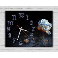 Настенные часы Голубая роза, 30х40 см