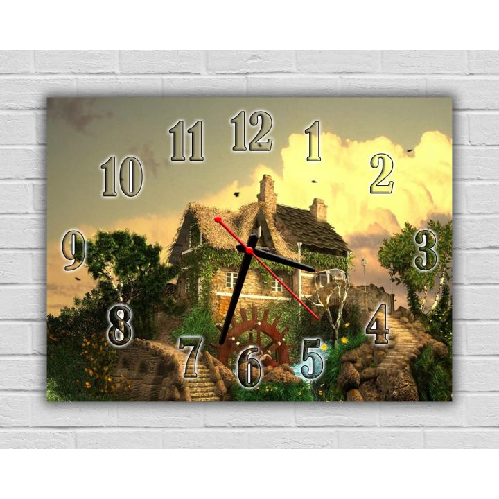 Детские часы настенные Очаровательная Усадьба, 30х40 см