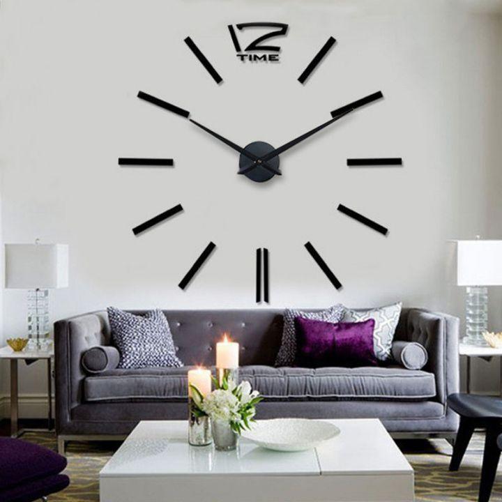 Огромные часы 12 Time Black