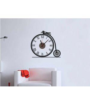 Часы наклейка настенные виниловые Bike, 47х42 см