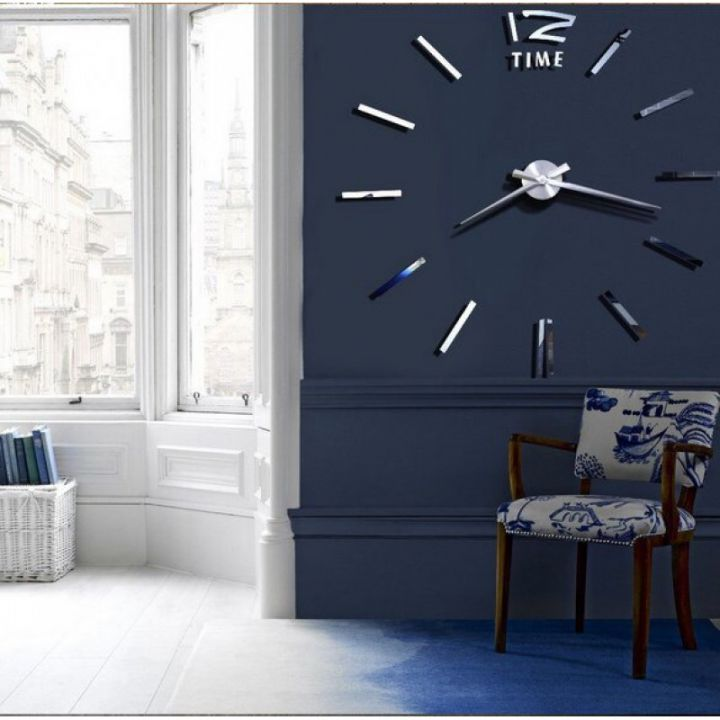 Часы с большими цифрами 12 Time Silver