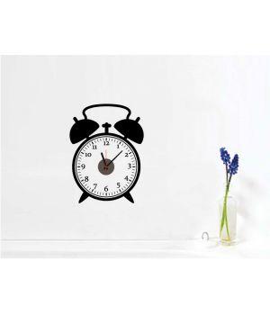 Часы наклейка настенные виниловые Alarm clock, 60х47 см