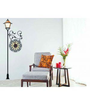 Часы наклейка настенные виниловые Lamp, 125х43 см