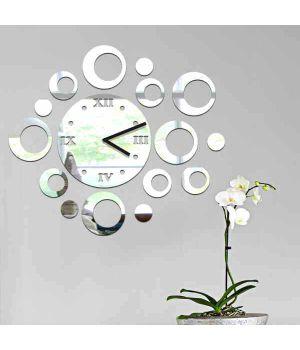 Дзеркальний накладний декоративний годинник на стіну Circles, 50х60 см