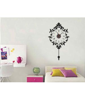 Часы наклейка настенные виниловые Clock, 90х50 см