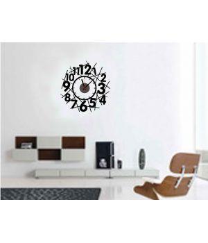Часы наклейка настенные виниловые Stylish clock, 55x53 см