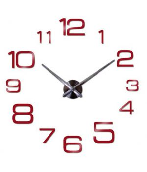 Диаметр 60-130 см, 3D Настенные часы с отдельными цифрами 4226 Red
