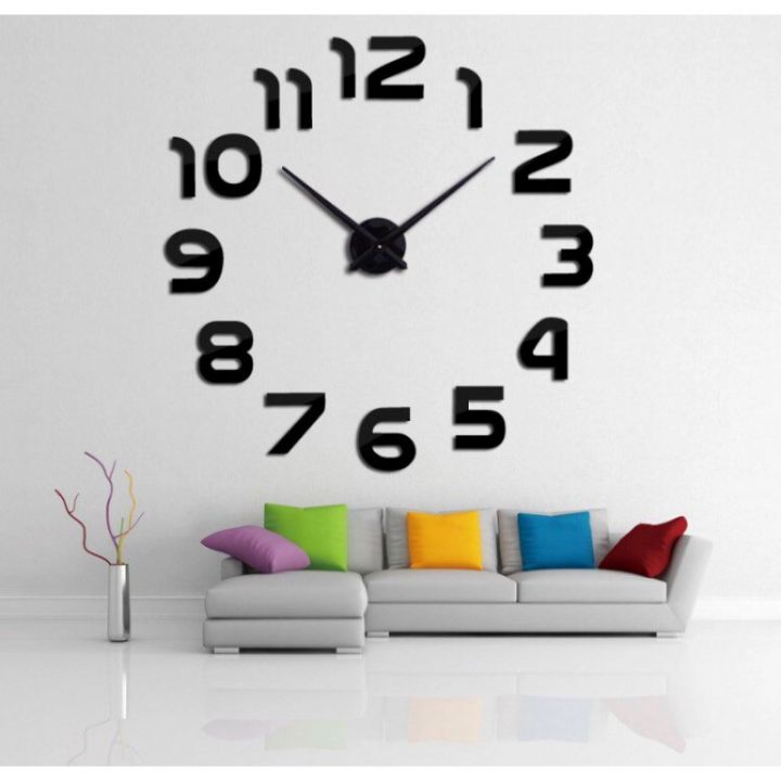 Часы на стену без корпуса Арабские цифры Black