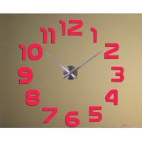 Діаметр 60-130 см, 3Д Годинник на стіну, Арабські цифри Рожевий