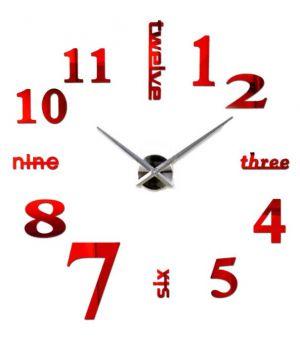 Діаметр 60-130 см, 3Д Годинник великий настінний, 78357