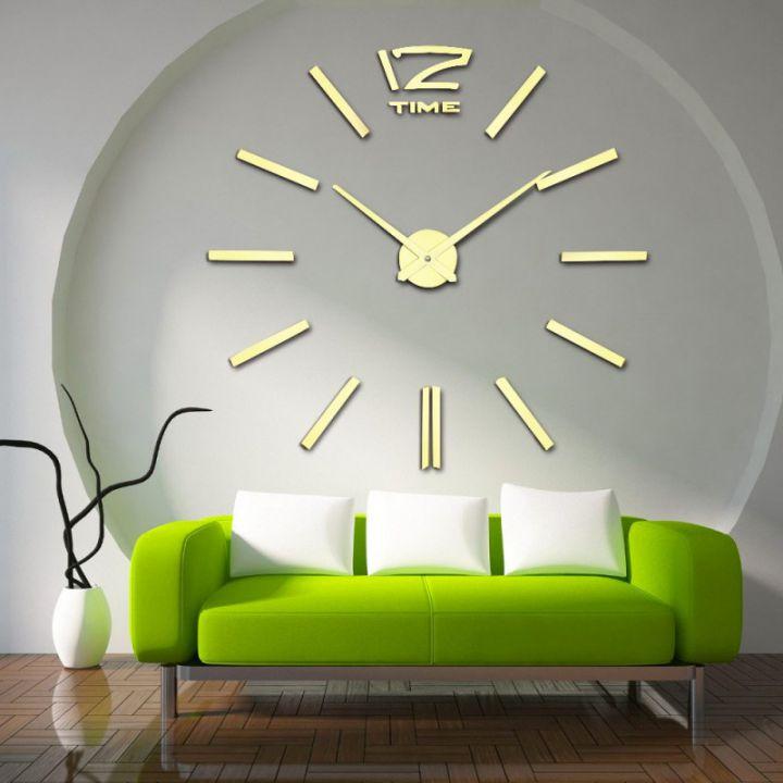 Часы настенные большие самоклеющиеся 12 Time Gold