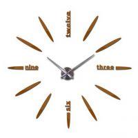 Діаметр 60-130 см, 3Д Годинник на стіну, 4212, Шоколад