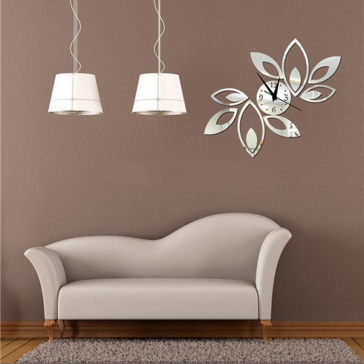 Зеркальные накладные декоративные часы на стену Ornament, 50х60 см