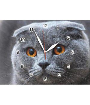 25х35 см, Скляний настінний годинник, 77915