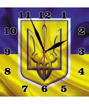 30х30 см, Стеклянные часы настенные, 77865