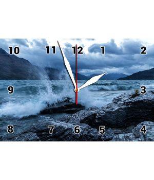 25х35 см, Стеклянные часы настенные, 77886