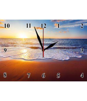 25х35 см, Стеклянные часы настенные, 77887