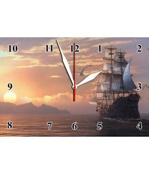 20х30 см, Стеклянные часы настенные, 77828