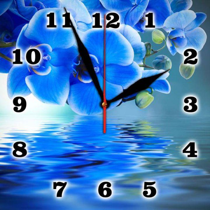 25х25 см, Стеклянные часы настенные, 77928