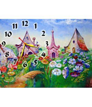 Часы детские настенные Сказочный Городок, 30х40 см
