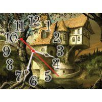 Годинник на стіну дитячий Казковий Замок, 30х40 см