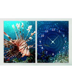 Модульные часы 1C-112-2p-W