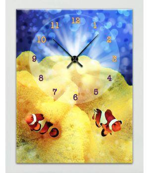 Часы-картина 1C-223-30x40-W